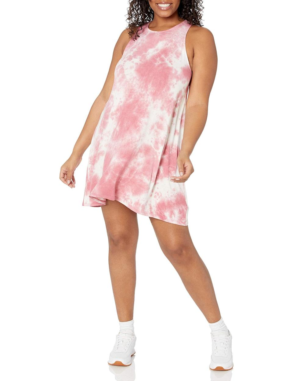 """<br><br><strong>Wild Meadow</strong> Sleeveless Tank Knit Swing Dress, $, available at <a href=""""https://amzn.to/3h7F1KI"""" rel=""""nofollow noopener"""" target=""""_blank"""" data-ylk=""""slk:Amazon"""" class=""""link rapid-noclick-resp"""">Amazon</a>"""