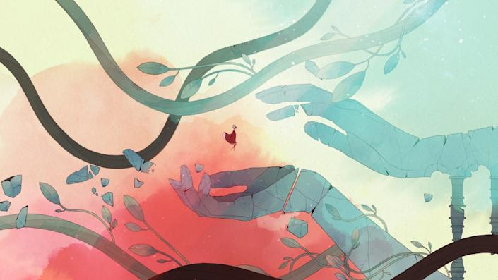 """Thoughtful story-driven games such as """"Gris"""" have potential to be played with the family."""