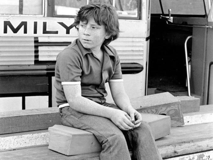 "Danny Bonaduce on the set of ""The Partridge Family,"" circa 1970, when he was around 11 years old."