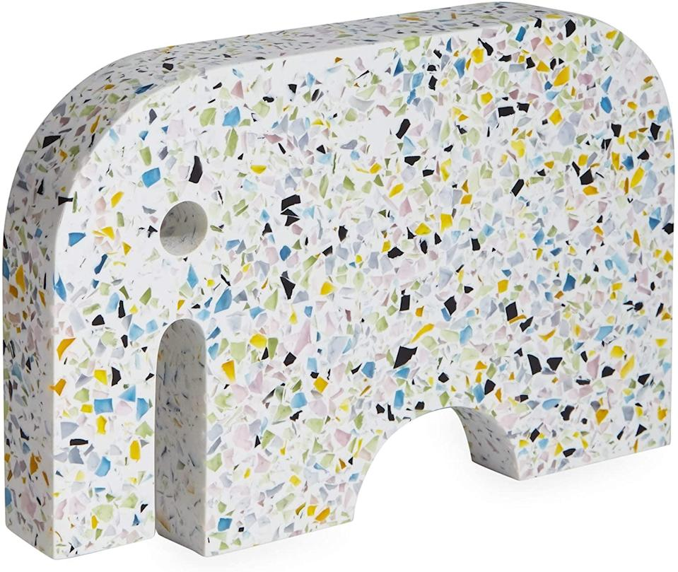 <p>Decorate any tabletop or shelf with this fun <span>Now House by Jonathan Adler Terrazzo Elephant</span> ($59).</p>