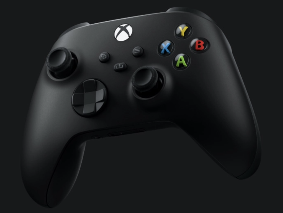 The Series X gets an updated controller with improved latency, Bluetooth Low Energy, and a share button. (Image: Microsoft)