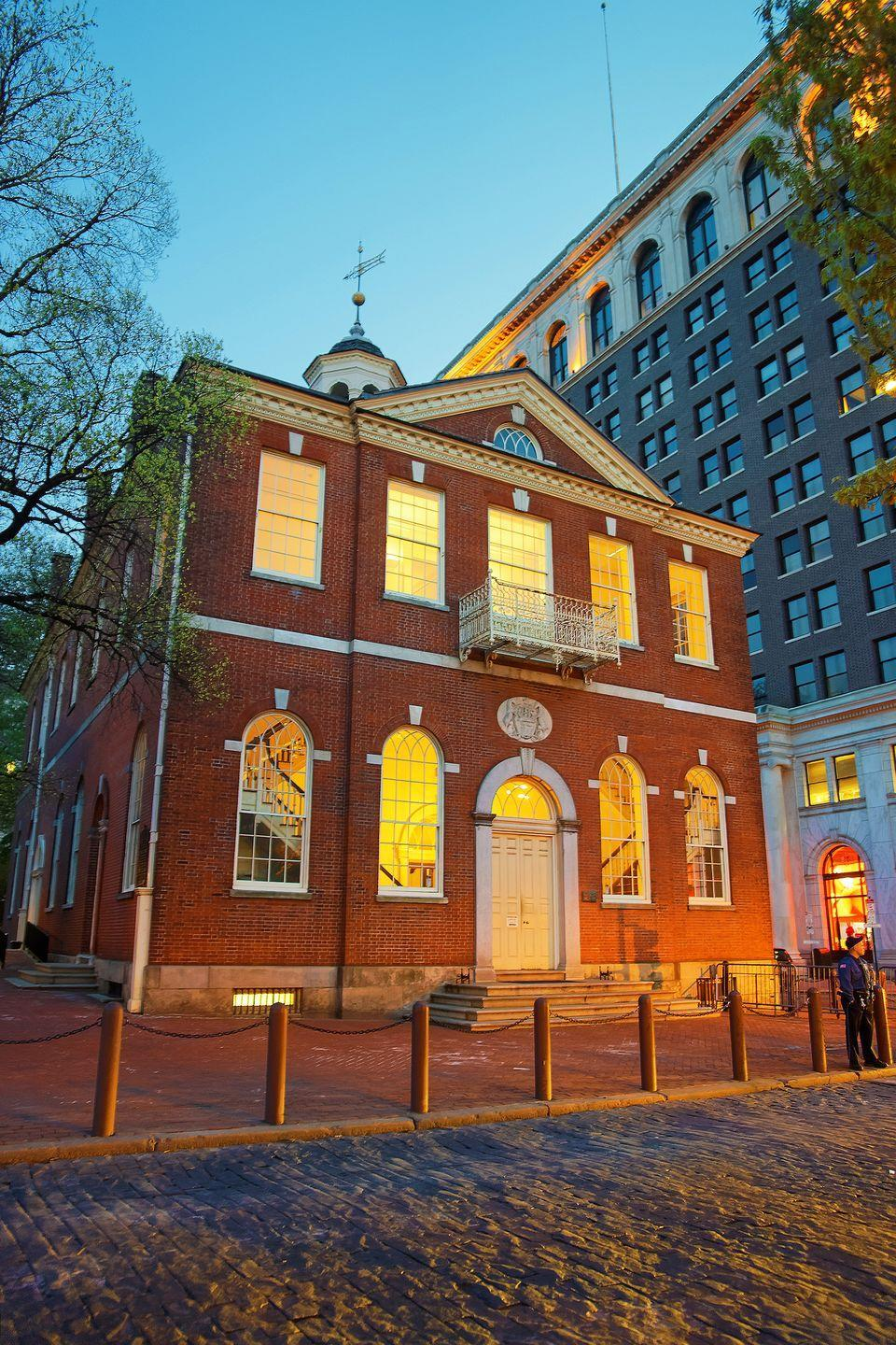 """<p>Definitely not suitable for little ones, this terrifying 105-minute tour schools you on hauntings, executions, vampires, and other chilling tales, all while you get the chance to explore Philadelphia's historic buildings.</p><p><a class=""""link rapid-noclick-resp"""" href=""""https://go.redirectingat.com?id=74968X1596630&url=https%3A%2F%2Fwww.tripadvisor.com%2FAttractionProductReview-g60795-d11854370-Dark_Philly_Adult_Night_Tour-Philadelphia_Pennsylvania.html&sref=https%3A%2F%2Fwww.redbookmag.com%2Flife%2Fg37623207%2Fghost-tours-near-me%2F"""" rel=""""nofollow noopener"""" target=""""_blank"""" data-ylk=""""slk:LEARN MORE"""">LEARN MORE</a></p>"""