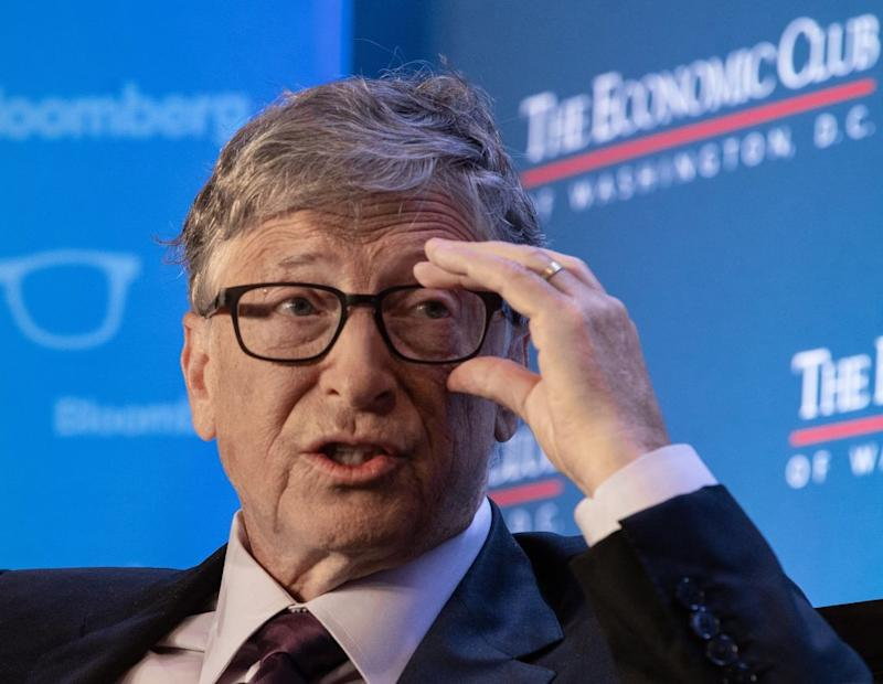 Pictured: Bill Gates, Microsoft co-founder. (Photo by NICHOLAS KAMM / AFP)