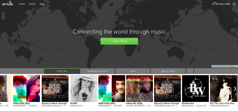 smule homepage