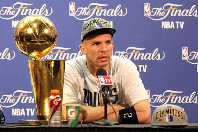 Jason Kidd's winding NBA road finally led him to a championship in 2011. (Getty Images)