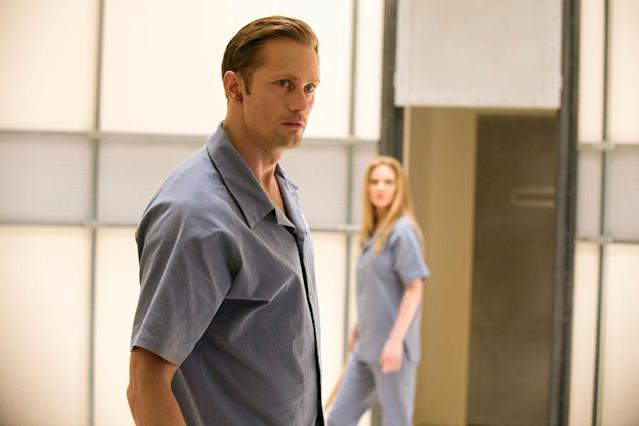 "Alexander Skarsgard and Kristin Bauer von Straten in the ""True Blood"" Season 6 episode, ""F--- the Pain Away."""