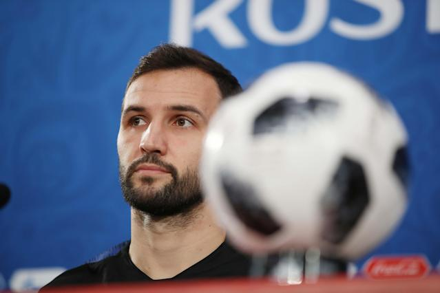 Soccer Football - World Cup - Croatia News Conference - Rostov Arena, Rostov-on-Don, Russia - June 25, 2018 Croatia's Milan Badelj during news conference REUTERS/Marko Djurica