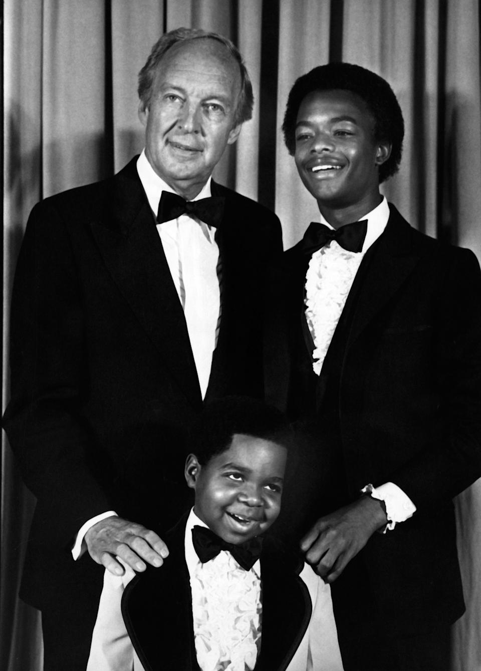 PASADENA, CA - JANUARY 27:  Actors Conrad Baines, Gary Coleman and Todd Bridges attend 33rd Annual Primetime Emmy Awards on January 27, 1980 at the Pasadena Civic Auditorium in Pasadena, California. (Photo by Ron Galella, Ltd./Ron Galella Collection via Getty Images)