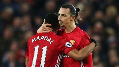 Anthony Martial Zlatan Ibrahimovic Manchester United