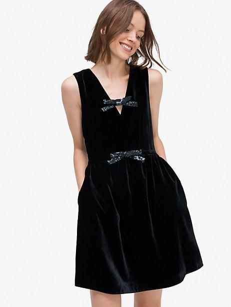 <p><span>Sequin-Bow Velvet Dress</span> ($448)</p>
