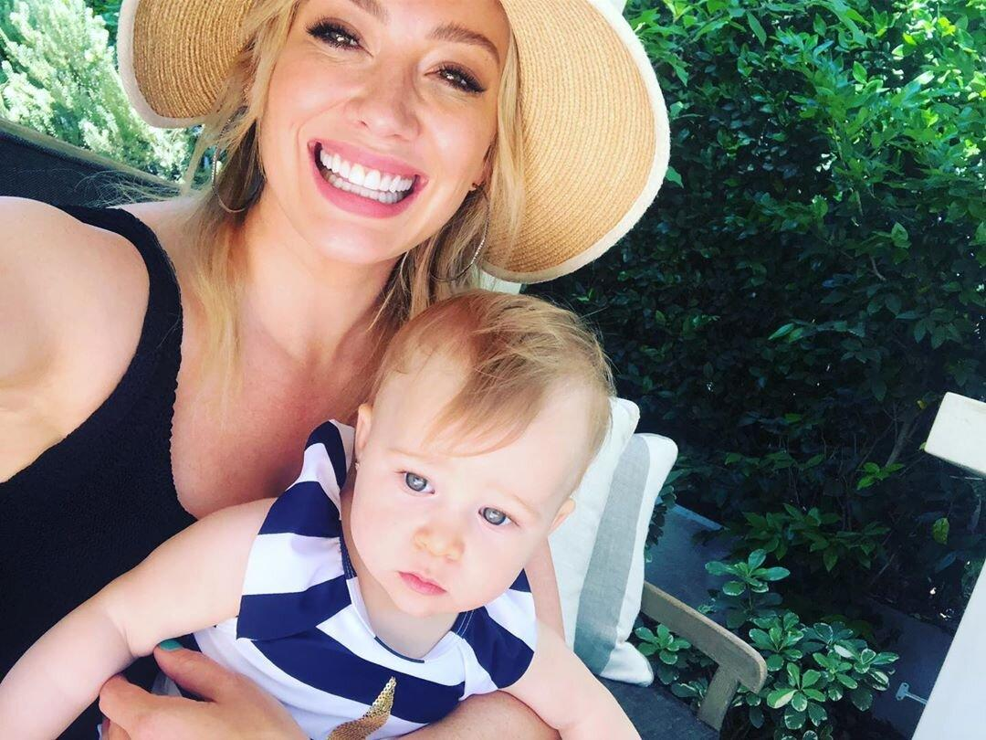"""Hilary Duff posted an adorable series of photos with <a href=""""https://people.com/parents/hilary-duff-welcomes-daughter-matthew-koma/"""">nearly 1-year-old</a><a href=""""https://people.com/parents/hilary-duff-welcomes-daughter-matthew-koma/""""> daug</a><a href=""""https://people.com/parents/hilary-duff-welcomes-daughter-matthew-koma/"""">hter</a> Banks in honor of National Daughter's Day. She wrote, """"My little angel bright. My loudest unstoppable beautiful bean. My gift. My magnet. My mini. My daughter ♥️ oh I love you so."""""""