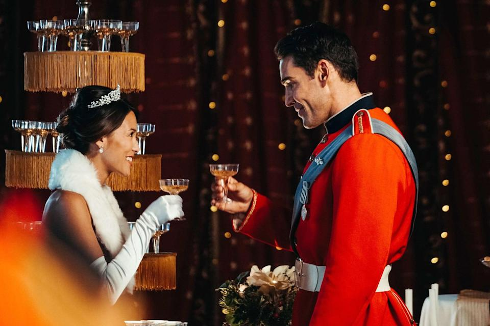 """<p>Equally cheesy and romantic, this 2018 flick follows a pediatric specialist who is forced to care for a handsome prince after he breaks his leg on a nearby ski slope. They soon develop a romantic connection, and the rest is history.</p> <p>Watch <a href=""""https://www.netflix.com/search?q=Christmas%20With%20a%20Prince&amp;jbv=81320103"""" class=""""link rapid-noclick-resp"""" rel=""""nofollow noopener"""" target=""""_blank"""" data-ylk=""""slk:Christmas With a Prince""""><strong>Christmas With a Prince</strong></a> on Netflix now.</p>"""