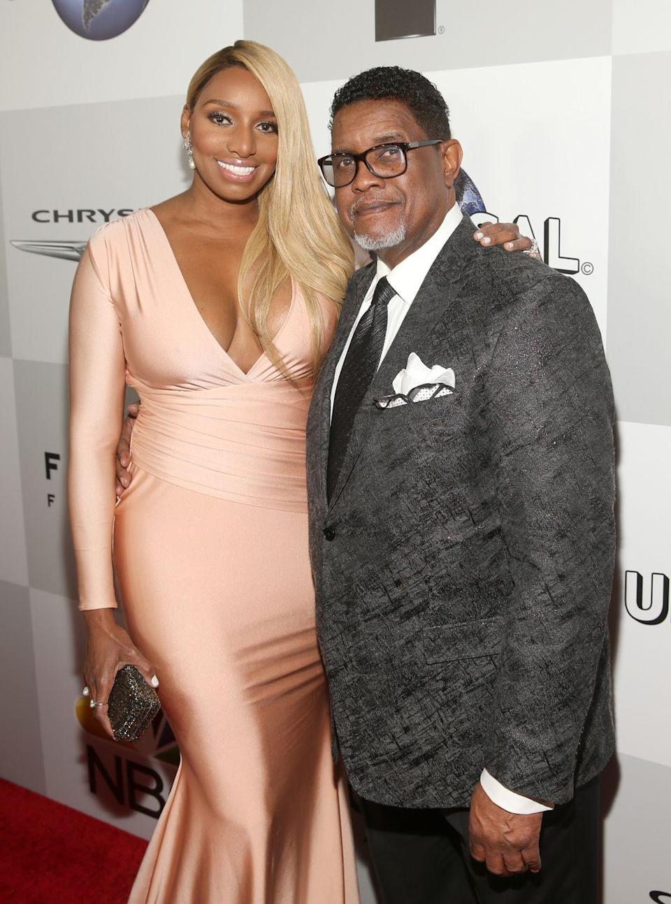 """<p>Former <em>Real Housewives of Atlanta </em>star NeNe Leakes married Gregg Leakes long before her reality TV fame. The couple was first married in 1997, but three years after she joined the reality show, they <a href=""""https://www.bravotv.com/the-daily-dish/why-nene-leakes-filed-for-divorce-from-gregg-leakes#:~:text=NeNe%20Leakes%20and%20her%20husband,Dream%20of%20NeNe%3A%20The%20Wedding.&text=%22I%20have%20been%20with%20Gregg,or%20so%2C%22%20she%20shared."""" rel=""""nofollow noopener"""" target=""""_blank"""" data-ylk=""""slk:filed for divorce"""" class=""""link rapid-noclick-resp"""">filed for divorce</a>. As viewers know, the Leakes reunited and remarried in 2013. </p>"""