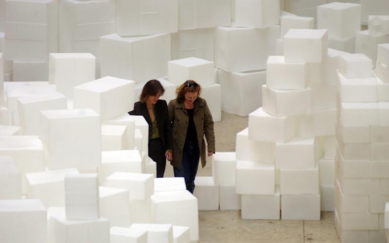 Rachel Whiteread's Embankment, made of plastic boxes, at Tate Modern