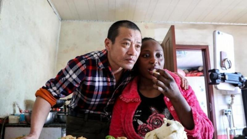 Chinese-African couple become live-streaming hit in China