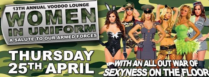 """The Voodoo Lounge is offering """"free entry for service men and women"""". Source: Facebook/Voodoo Lounge Northbridge"""