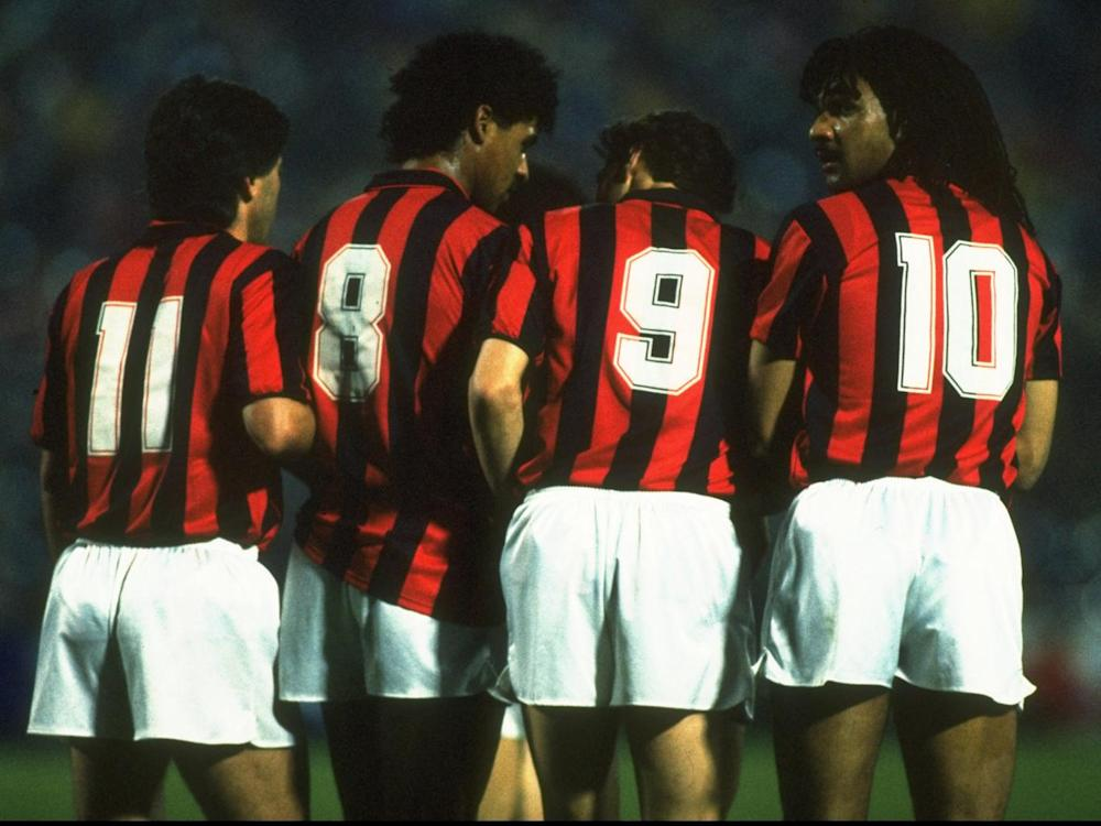 Arrigo Saachi's Milan dominated Europe in the late 1980s (Getty)