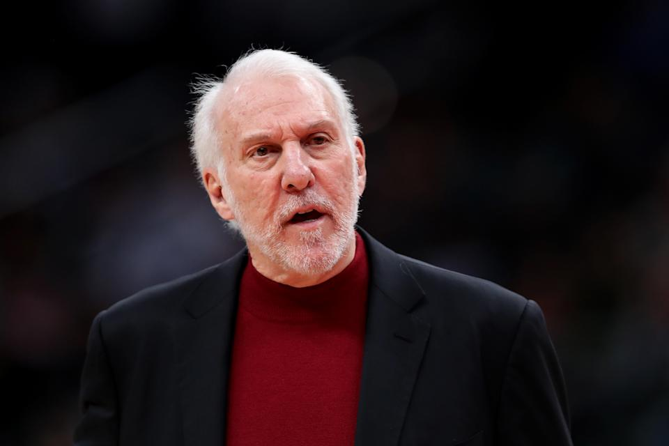 When asked about their current losing streak on Friday, Gregg Popovich broke out his best President Donald Trump impression. (Rob Carr/Getty Images)