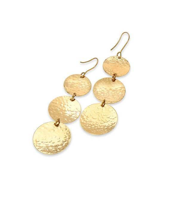 """<p>donlucas.com</p><p><strong>$105.00</strong></p><p><a href=""""https://donlucas.com/products/bronzed-cymbal-chain-earrings"""" rel=""""nofollow noopener"""" target=""""_blank"""" data-ylk=""""slk:Shop Now"""" class=""""link rapid-noclick-resp"""">Shop Now</a></p><p>Geometric gold dangles are just as versatile as the hoops she wears on repeat. She'll treasure these hammered bronze earrings for years.</p>"""
