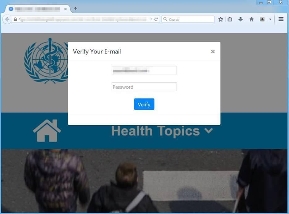 If a potential victim clicks on the above left email, they are taken to this malicious credential harvesting log-in page that will steal their information. Source: Supplied