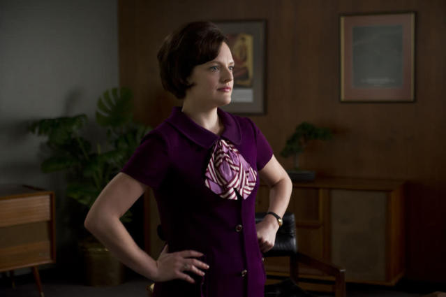 "Peggy Olson (Elisabeth Moss) in the ""Mad Men"" episode, ""The Collaborators."""