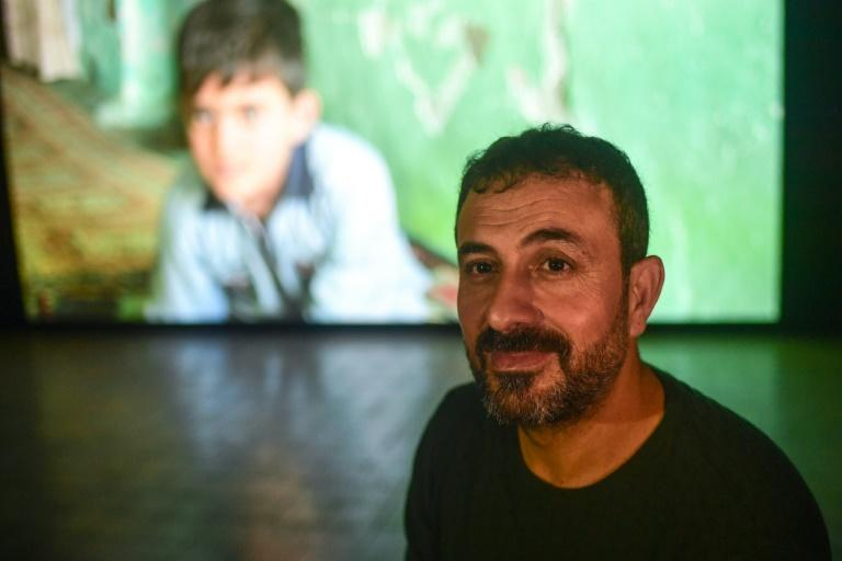 Turkish artist Erkan Ozgen, a Kurd, presented a video installation of a mute Syrian boy, using just body movements, to give a harrowing description of life under the Islamic State
