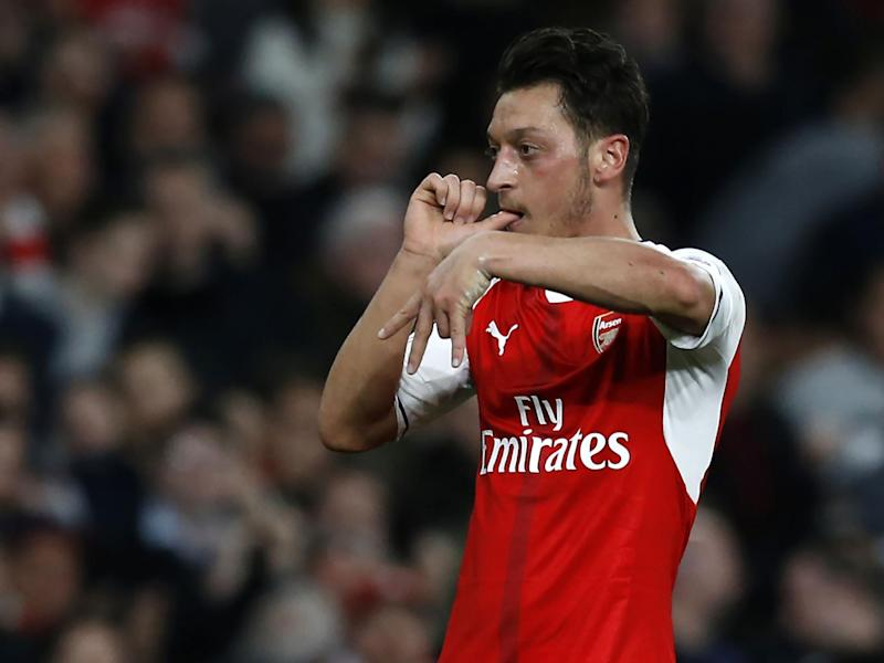 Mesut Ozil returned to form with an impressive display against the Hammers: Getty