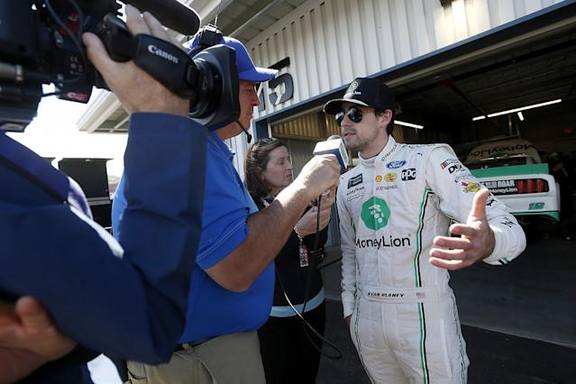 NASCAR's Suarez and McDowell in paddock fight