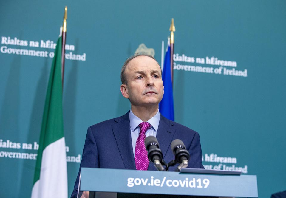 Taoiseach Michael Martin had been due to travel to Britain this week before Boris Johnson was called to self-isolate (Tom Honan/PA) (PA Archive)
