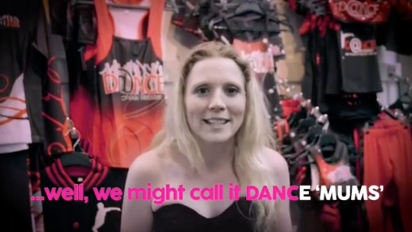 A photo of Nikki Webster in a video announcing Dance Moms is coming to Australia.
