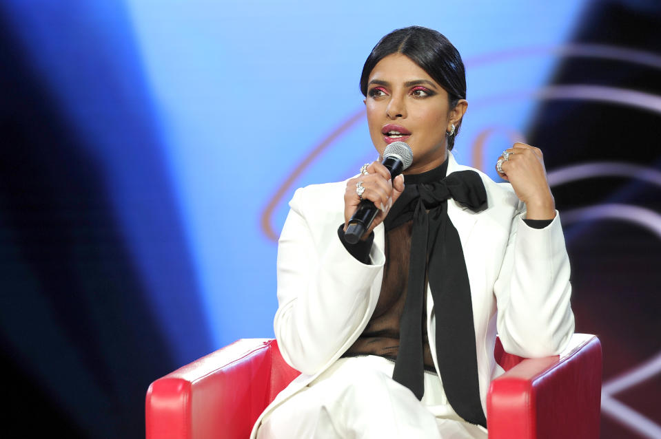 LOS ANGELES, CALIFORNIA - AUGUST 10:  Priyanka Chopra attends Beautycon Festival Los Angeles 2019 at Los Angeles Convention Center on August 10, 2019 in Los Angeles, California. (Photo by John Sciulli/Getty Images for Beautycon)