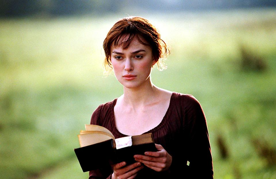 """<p>I'm a big reader, which is something that was passed down to me by my mother. And when <em>Pride and Prejudice</em> came out in 2005, I was in the middle of a full deep dive of Jane Austen's novels. Mom and I saw this in theaters and were both floored by the adaptation. So much so we went back to see it again. I don't think there's a British period romance out there we <em>haven't</em> watched, but this is a favorite. –<em>AM</em> </p> <p><a href=""""https://www.amazon.com/Pride-Prejudice-Keira-Knightley/dp/B000I9YLUI"""" rel=""""nofollow noopener"""" target=""""_blank"""" data-ylk=""""slk:Stream it on Amazon Prime Video"""" class=""""link rapid-noclick-resp""""><em>Stream it on Amazon Prime Video</em></a></p>"""