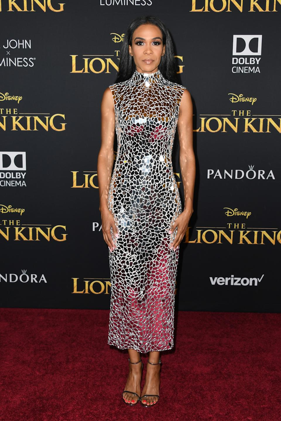 """HOLLYWOOD, CALIFORNIA - JULY 09:  Michelle Williams attends the Premiere Of Disney's """"The Lion King"""" at Dolby Theatre on July 09, 2019 in Hollywood, California. (Photo by Jon Kopaloff/FilmMagic)"""