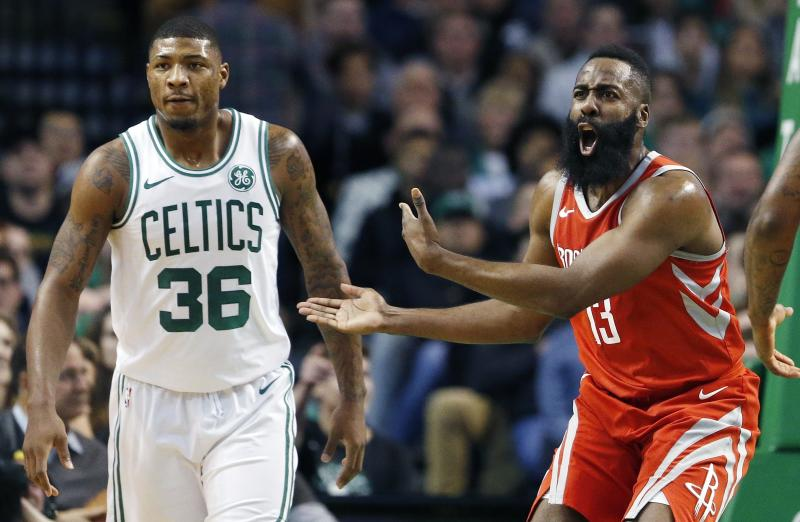 Image result for marcus smart james harden