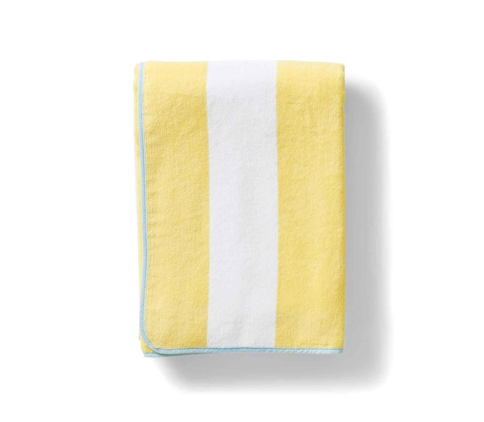 """<p>weezietowels.com</p><p><strong>$68.00</strong></p><p><a href=""""https://go.redirectingat.com?id=74968X1596630&url=https%3A%2F%2Fweezietowels.com%2Fproducts%2Fbeach-towel&sref=https%3A%2F%2Fwww.countryliving.com%2Fshopping%2Fg32462744%2F2020-outdoors-awards%2F"""" rel=""""nofollow noopener"""" target=""""_blank"""" data-ylk=""""slk:Shop Now"""" class=""""link rapid-noclick-resp"""">Shop Now</a></p><p>Made in Portugal, this cushion-y 70"""" towel comes with a convenient hook for hanging.</p>"""