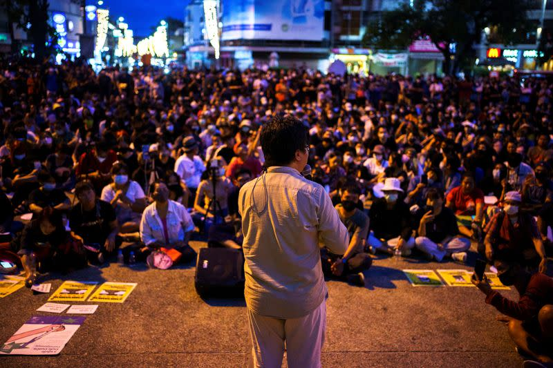 FILE PHOTO: Anti-government protesters protest in Thailand