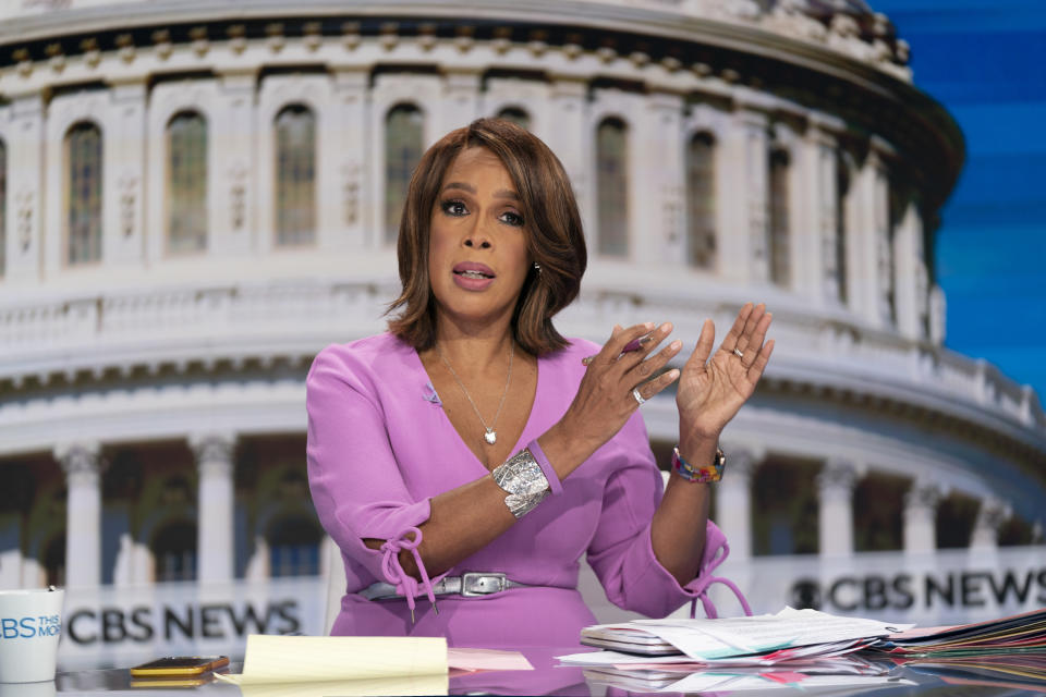 WASHINGTON - JANUARY 20: CBS This Morning Co-Host Gayle King broadcasts live from Washington DC on Inauguration Day 2021. (Photo by Michele Crowe/CBS via Getty Images)