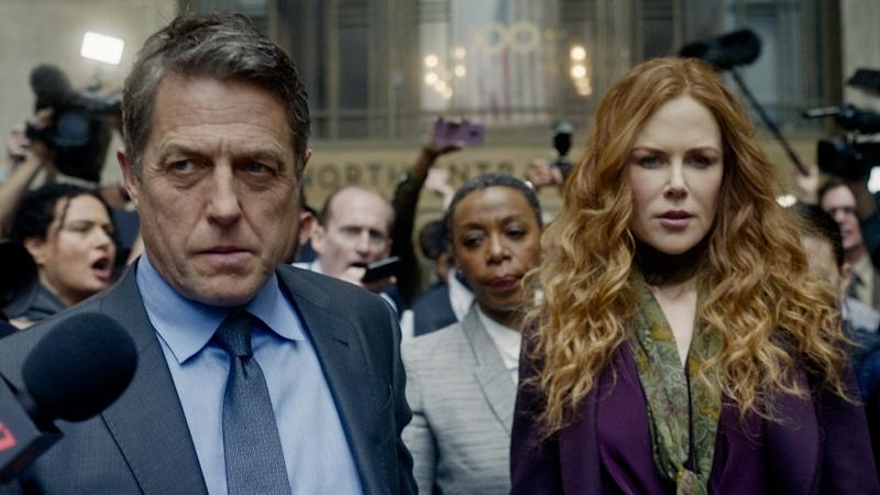 "Hugh Grant, Noma Dumezweni, center, and Nicole Kidman act in HBO's ""The Undoing."""