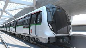 Next-generation BOMBARDIER MOVIA metro train design for Singapore's North-South and East-West Lines.