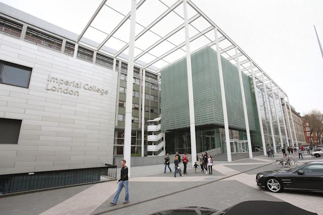 Imperial College London on Exhibition Road in central London.