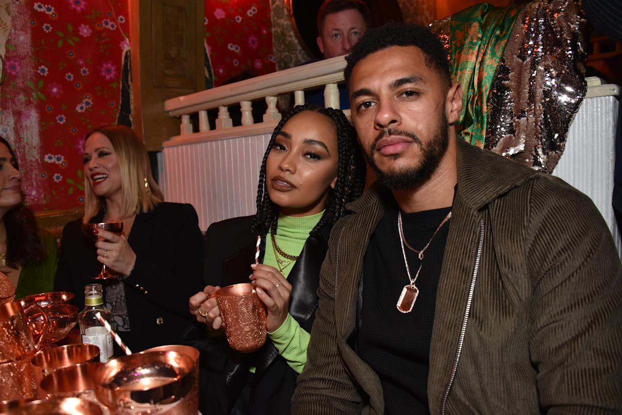 LONDON, ENGLAND - NOVEMBER 14:  Leigh-Anne Pinnock (L) and Andre Gray attend Dita Von Teese X Absolut Elyx at The Box on November 14, 2018 in London, England.  (Photo by David M. Benett/Dave Benett/Getty Images)