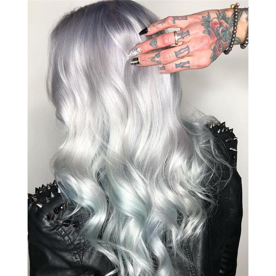 "Kansas City colorist Sarai Speer is a key player in the <a href=""https://www.allure.com/story/ghosted-hair-color-trend?mbid=synd_yahoo_rss"" rel=""nofollow noopener"" target=""_blank"" data-ylk=""slk:Ghosted hair trend"" class=""link rapid-noclick-resp"">Ghosted hair trend</a>, thanks to looks like this one which combines metallic, iridescent shades and gives off the illusion of various hues depending on where light hits the hair."