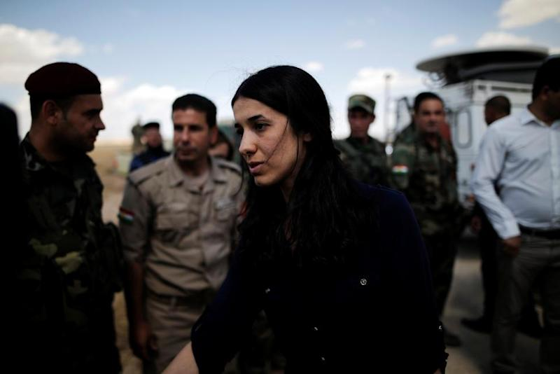 Nadia Murad returns to home village