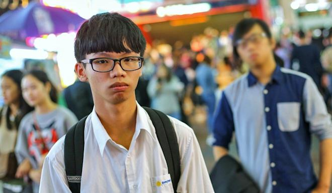 Tony Chung, one of four former Studentlocalism members arrested. Photo: Dickson Lee
