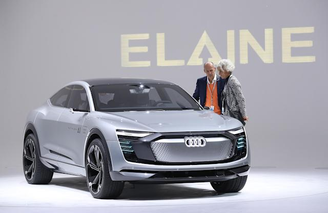 "<p><strong>Audi ElAIne</strong><br>After teasing its autonomous vehicle back in July, Audi unveiled its self-driving concept cars this week, one of which is the Audi ElAIne (AI — get it?). According to Audi, this electric-powered SUV would be capable of running errands for you while you're not in it; you'd park in a ""handover zone"" and leave the car, then it would drive to a parking garage that offers a car wash, a gas station, a charging post and a package station (presumably for picking up deliveries), all without you being present. Anticipated launch year: 2019. (Photo by Sean Gallup/Getty Images) </p>"