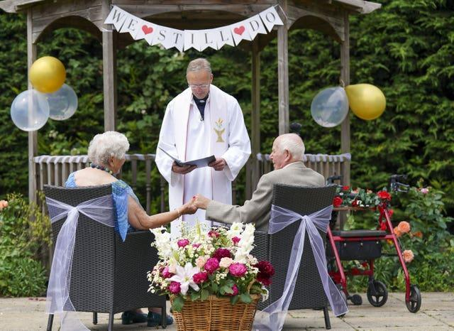 Care home wedding vows renewal