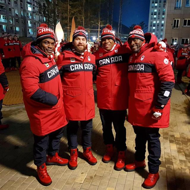 <p>Neville Wright Canada, bobsled: Represent, in full effect and ready for opening ceremonies! @pyeongchang2018 @teamcanada #gocanadago (Photo via Instagram/nwright021) </p>