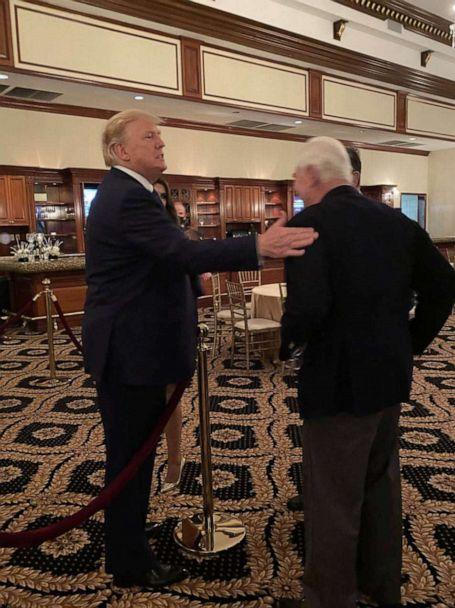 PHOTO: Roger Stone speaks with President Trump at the Trump International Golf Club in West Palm Beach, Fla., Dec. 27, 2020. (Obtained by ABC News)