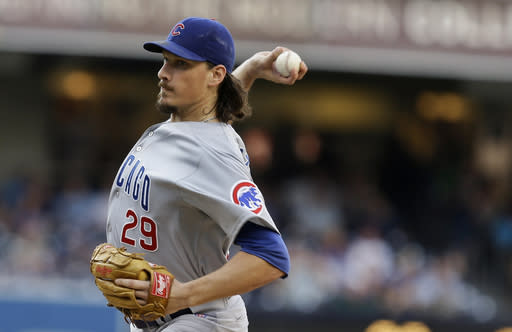 Samardzija goes 8 innings as Cubs beat Padres 3-2