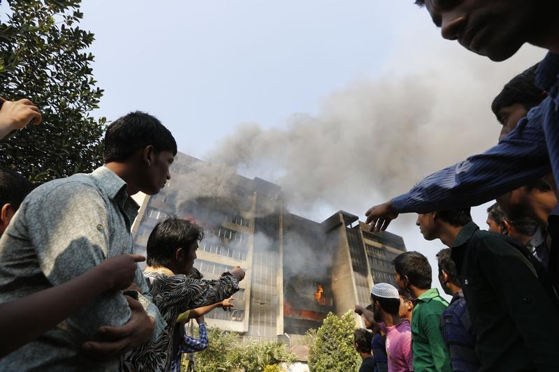 Key Bangladesh garments factory destroyed in blaze